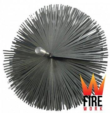 Стальной ершик для чистки дымохода (под резьбу)